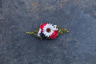Ozdoby do vlasov - Kvetinová spona do vlasov \
