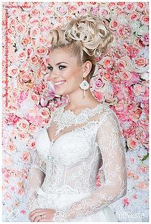 Náušnice - Náušnice svadobné s bielymi perlami - 6737608_