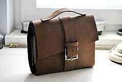 Papiernictvo - kožený zápisník Business bag - 6739382_