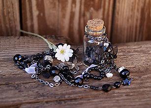 Náhrdelníky - Čierny turmalín vo fľaštičke - 6741324_