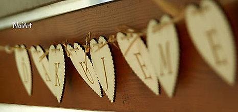 Tabuľky - Girlanda ĎAKUJEME drevo - 6756792_