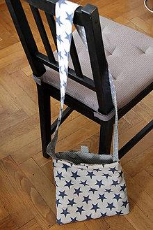 Iné tašky - Obojstranná taška - Šedé hviezdy - 6756101_