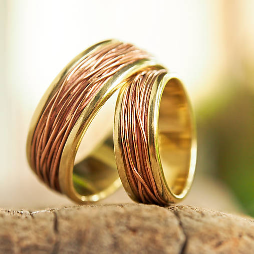 Prstene - Prepletené cesty osudu /žlto-červené/ - 6765716_