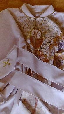 Oblečenie - ornát biely - hrozno a klasy - 6766011_