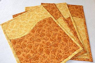 Úžitkový textil - Prestieranie - Slniečkové kvetiny. - 6765162_