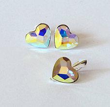 Sady šperkov - Crystal AB Heart - 6770205_