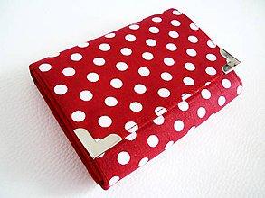 Peňaženky - retro červená II- peněženka i na karty - 6771867_
