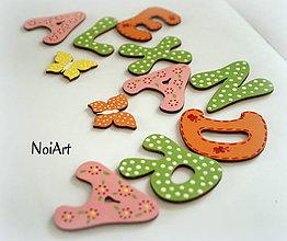 Dekorácie - Drevené písmenká ALEXANDRA - 6776590_
