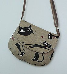 Detské tašky - Kabeluška mačičková režná - 6777006_