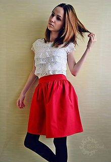 Sukne - Jednofarebná riasená sukňa na objednávku - 6785764_