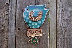 Dekorácie - Vtáčik na dvere č. 2 - 6785940_