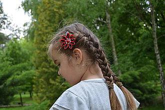 Ozdoby do vlasov - pukačky - lienkové - 6790885_