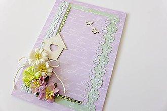 Papiernictvo - pohľadnica svadobná - 6793741_