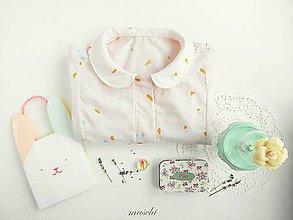 Košele - dámska blúzka s krátkym rukávom Pastell geometry - 6799364_