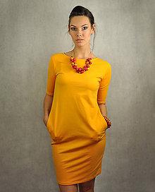 Šaty - Jednoduché šaty s vreckami - Slniečkové - 6801376_