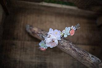 Ozdoby do vlasov - Kvetinový štvrťvenček...na želanie - 6804284_