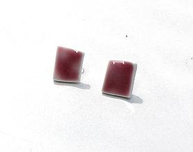 Náušnice - Červené náušnice - 6803131_