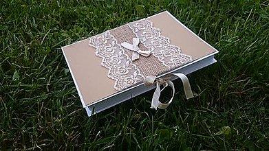 Papiernictvo - Krabička na CD a foto ,,Juta\