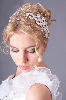 Ozdoby do vlasov - francúzsky závoj biely \