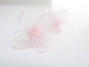Náušnice - Púdrové kvetinky - náušnice - 6810489_