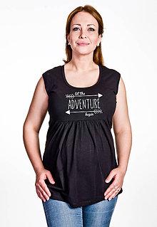 Tehotenské oblečenie - Tehotenské tričko DOBRODRUŽSTVO - 6808827_