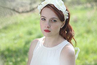 Ozdoby do vlasov - Svadobná kvetová čelenka - parta - 6813387_