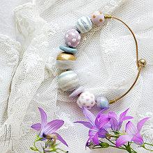 Náramky - boho náramok s pastelovými korálkami - 6814709_