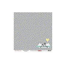 Papier - Papier 30,5x30,5cm Forest Friends - Rain, Racoons & Ballons - 6815053_