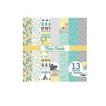 Papier - Sada papierov 30,5x30,5cm 13ks Forest Friends - 6817527_
