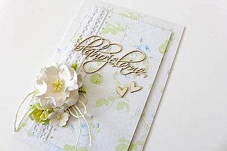 Papiernictvo - pohľadnica svadobná - 6816639_