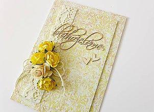Papiernictvo - pohľadnica svadobná - 6816662_