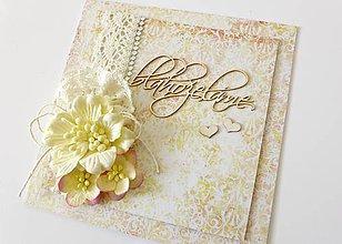 Papiernictvo - pohľadnica svadobná - 6816743_