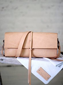 Kabelky - Listová kabelka s remienkom na plece MINI NATURAL - 6817012_