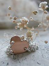 - Jednoducho ružosrdco - náhrdelník - 6818923_