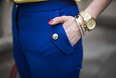 Nohavice - Modré nohavice skrátenej dĺžky - 6819019_
