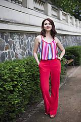 Nohavice - Červené nohavice široké - 6819224_