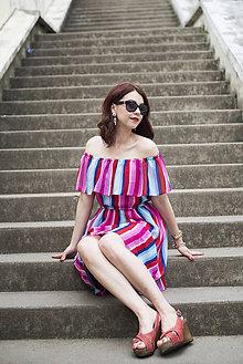 Šaty - Letné šaty s volánom - 6819405_