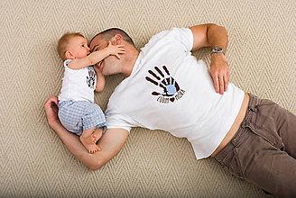 Oblečenie - Pánske tričko a detské body/tričko pre OCKA A DIEŤA - ľúbim - 6818802_