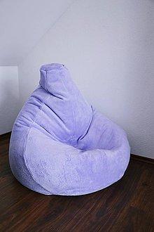 Nábytok - Vak na sedenie veľký hruška fialkový - 6824992_
