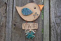 Dekorácie - Vtáčik na dvere č. 4 - 6825130_