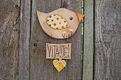 Dekorácie - Vtáčik na dvere č. 5 - 6825148_
