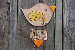Dekorácie - Vtáčik na dvere č. 8 - 6825187_