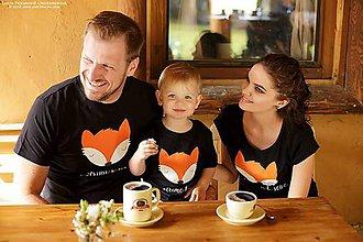 Tričká - Rodinné tričká LÍŠKA - 6824955_