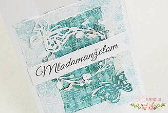Papiernictvo - Pohľadnica pre mladomanželov - 6828704_