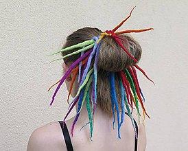 Ozdoby do vlasov - Pestrá dredy gumička - 6838859_