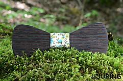 Doplnky - Drevený motýlik Wenge - 6837812_