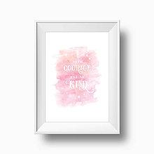 Grafika - Artpritn // have courage - 6841263_