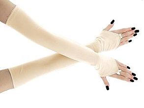 Rukavice - Dámské svadobné ivory rukavice 0025R4 - 6852882_
