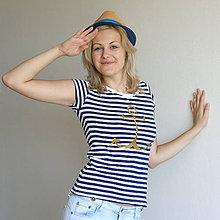 Tričká - Dámske tričko (Kotva zlatá) - 6849960_