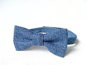 Detské doplnky - Jeans bow tie for kids - 6853977_